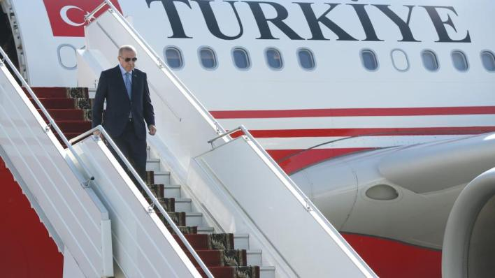 الرئيس التركي رجب طيب أردوغان يجري زيارة رسمية إلى جمهورية شمال قبرص التركية بعد دعوة تلقّاها من رئيسها أرسين تتار