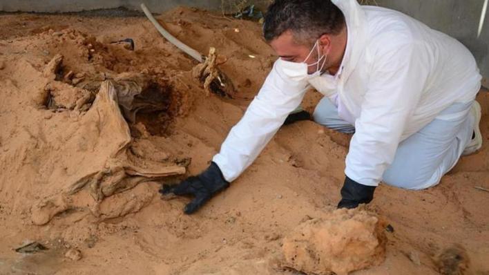 اكتشاف 5 مقابر جماعية بمدينة ترهونة الليبية