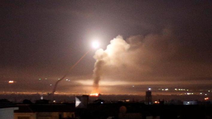 صورة أرشيفية لقصف إسرائيلي سابق على سوريا