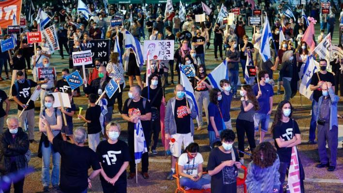 9545654 5377 3028 27 156 - مئات الإسرائيليين يتظاهرون أمام مقر إقامة نتنياهو لمطالبته بالاستقالة