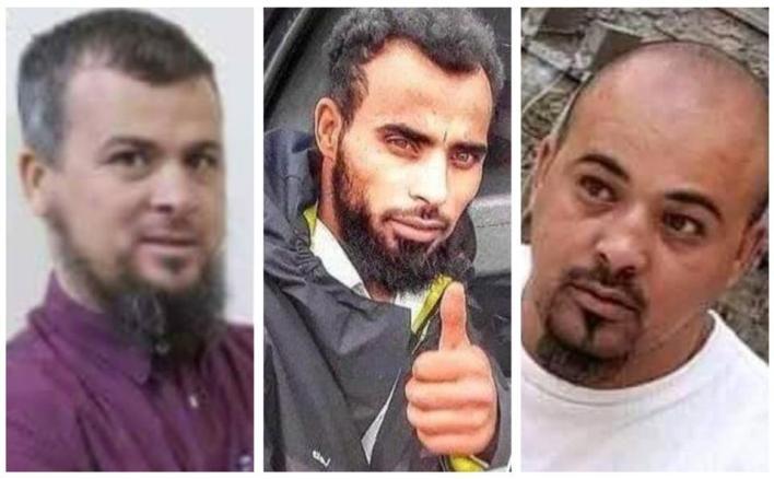 مجموعة صور من مواقع التواصل يظهر فيها محمد ومحسن وعبد الرحيم الكاني