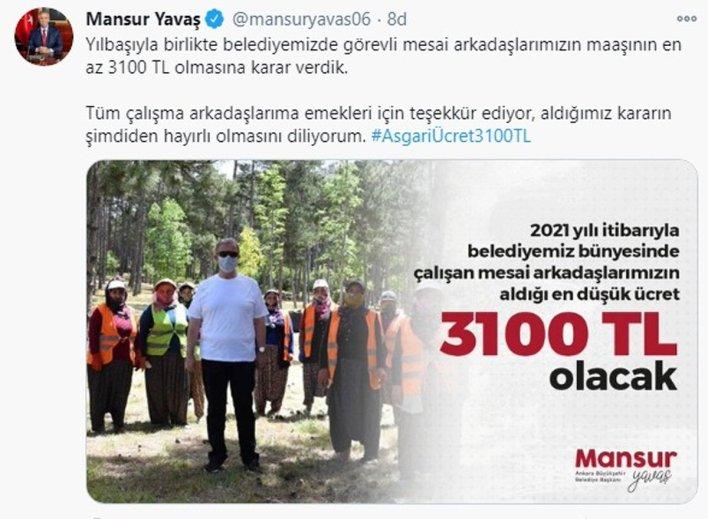 twt yavas - عاجل.. بلدية أنقرة تعلن عن مبلغ الحد الأدنى للأجور لعام 2021