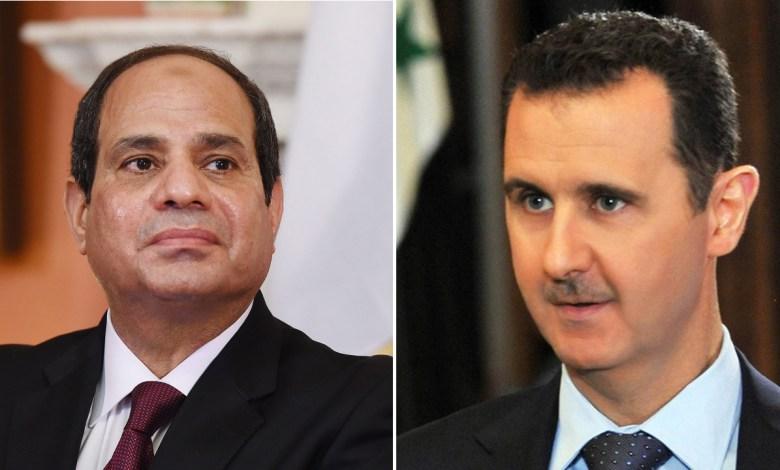 موقف السيسي تجاه نظام الأسد