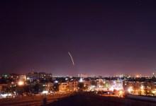 صورة استــ.ــهداف صــ.ــاروخي إسرائيلي لنقاط عسكرية تابعة لنظام الأسد