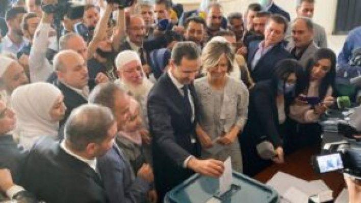 الاسد 300x169 - تصريحات للأسد ضـ.ـد الغرب بعد إدلاءه بصوته في مدينة دوما..