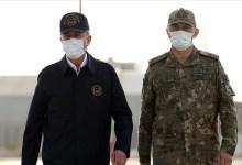 """صورة شاهد وزير الدفاع التركي يسافر ليتفقد الأوضاع عملية """"مخلب الصاعقة"""""""