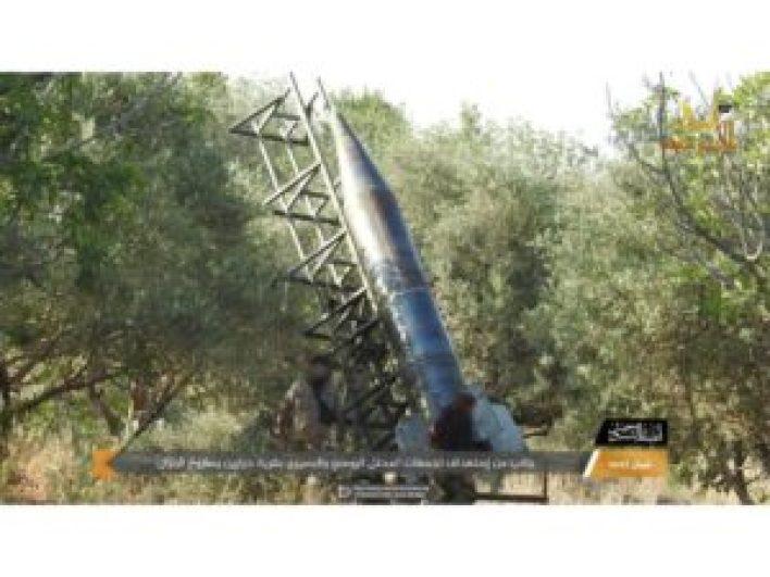 300x225 - الفصـ.ـائل المحـ.ـلية في إدلب تكشف عن صـ.ـاروخ جديد.. فيديو