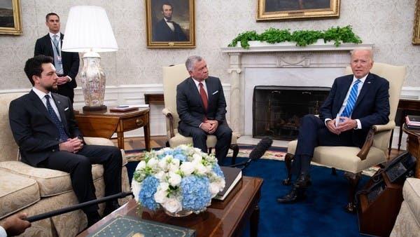 """الاردن الملك عبد الله - مـ.ـلك الأردن يقــ.ـدم مقتـ.ـرحًا جديدًا للحـ.ـل في سوريا خلال لقـ.ـائه """"بايدن"""""""