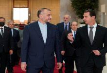 """صورة وزير الخارجية الإيراني يزور بشار في دمشق ويعرض بدأ """"خارطة طريق ومرحلة جديدة"""""""