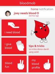 Aplikasi Bloodmob, salah satu pemenang BAC 2013 (sumber: blackxperience.com)