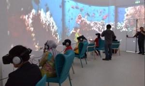 Meneropong keindahan alam Indonesia melalui Google Oculus (Sumber @indoworldexpo)