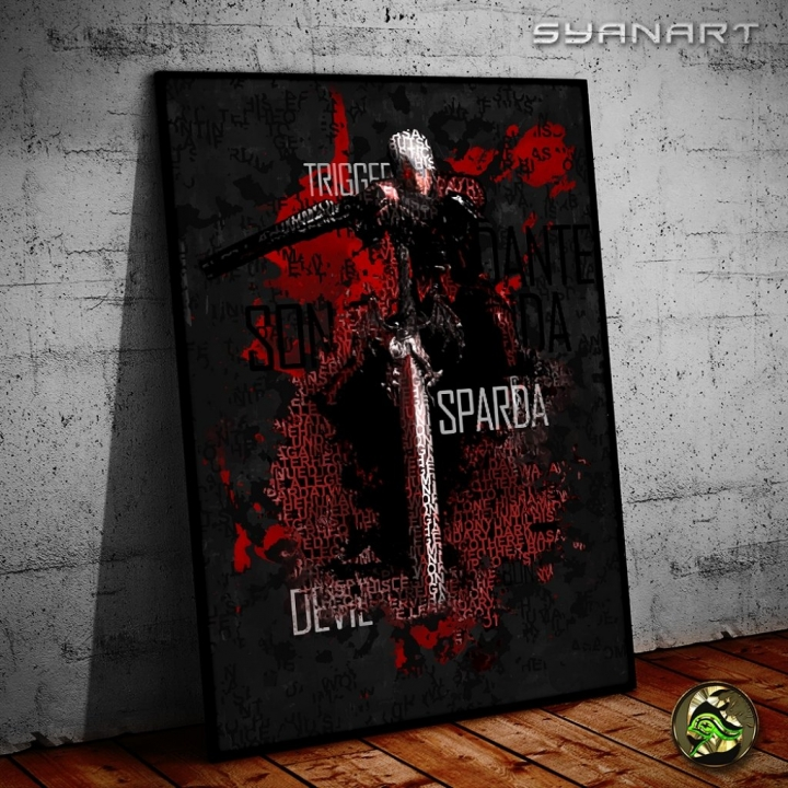 devil may cry 1 dante type poster print