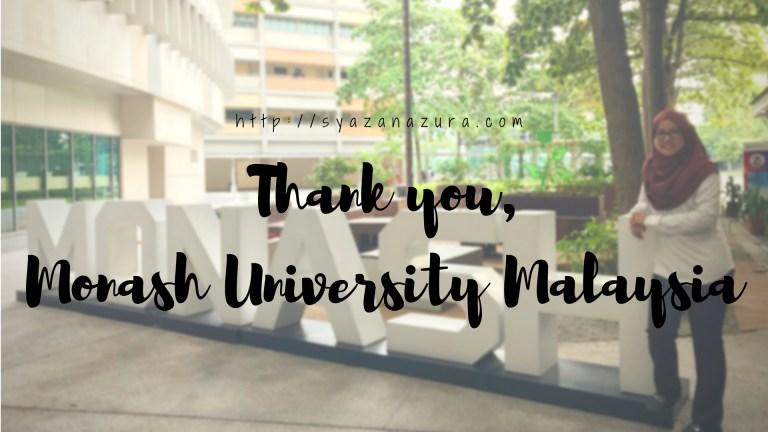 Thank you Monash University Malaysia