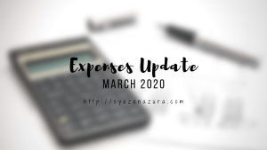 march 2020 expenses