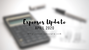 April 2020 expenses