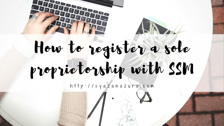 register a sole proprietorship with SSM