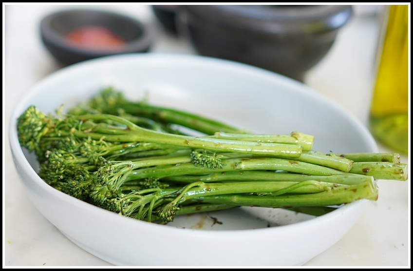 A Dish of Flash-fried Broccolini