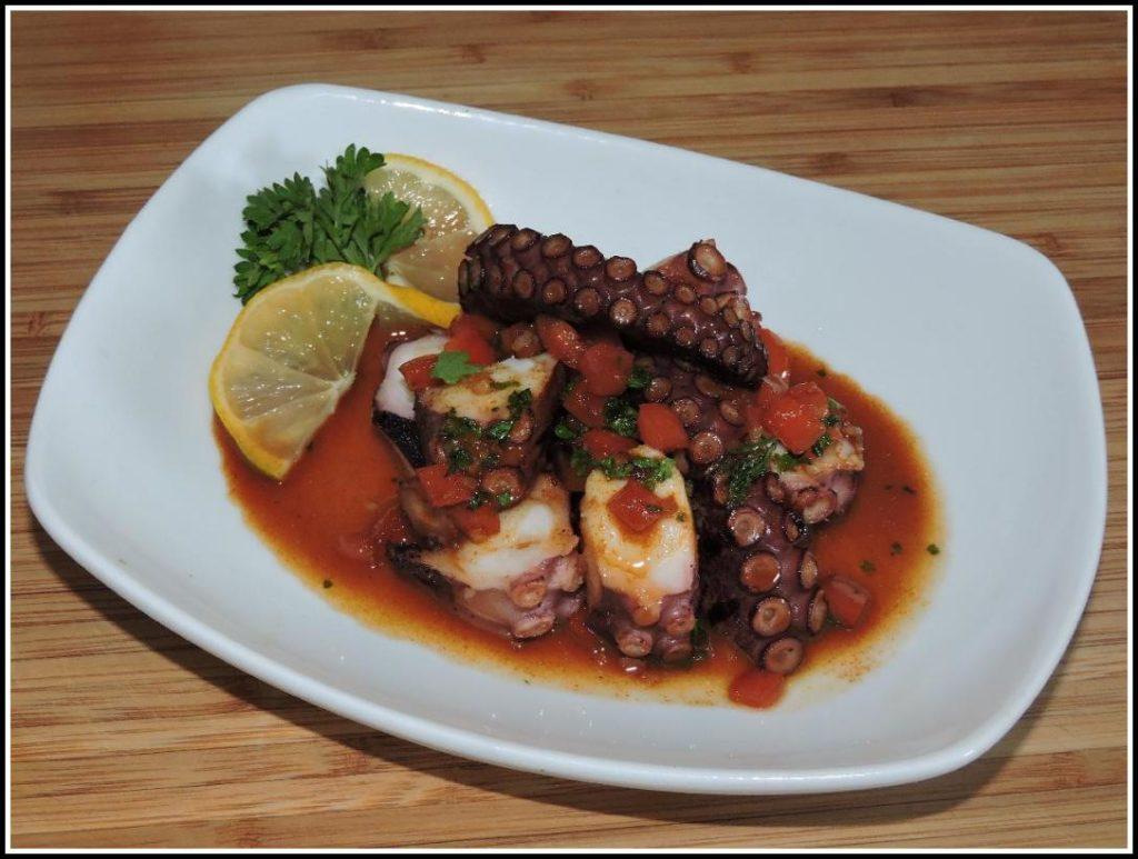 A Tapas Dish of Mediterranean Octopus