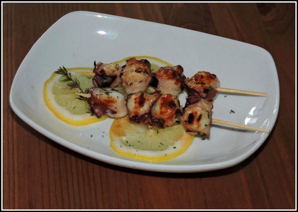 Provençal Octopus Brochettes served Tapas-style