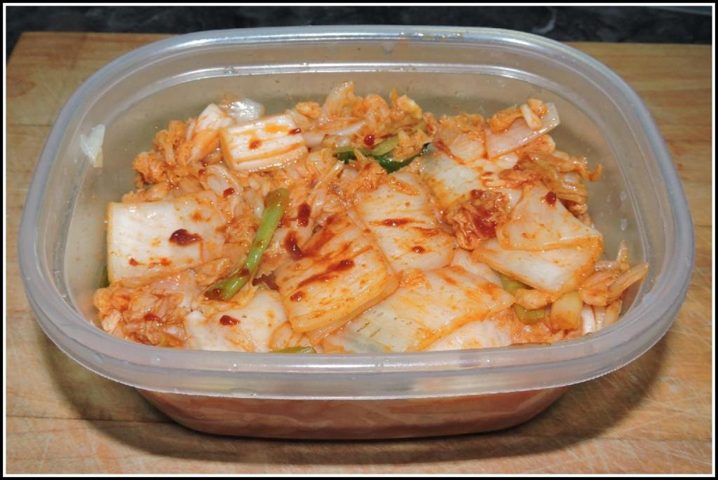 Basic Cabbage Kimchi ready to be eaten.