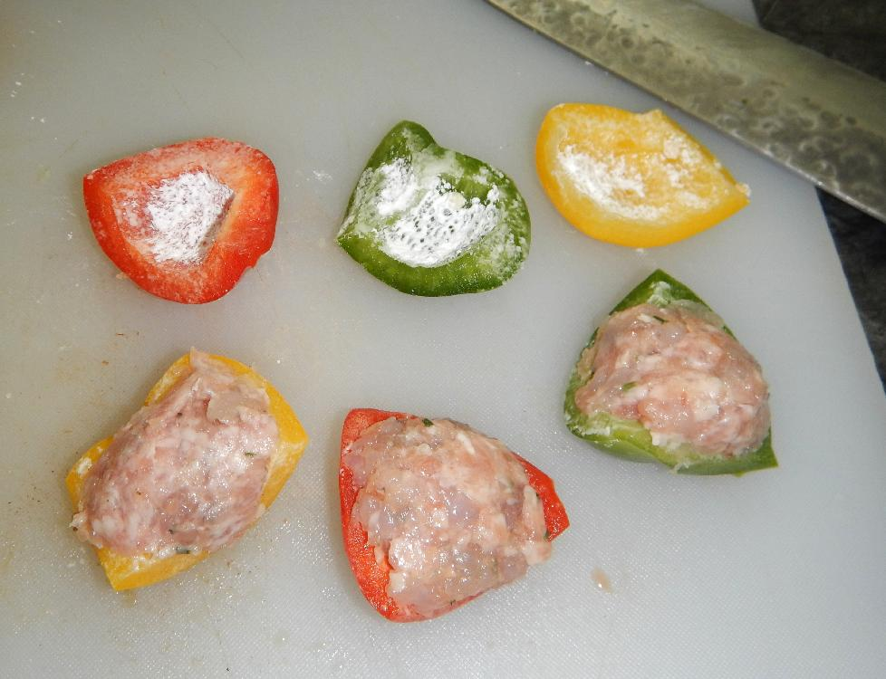 Filling the Pepper Pieces