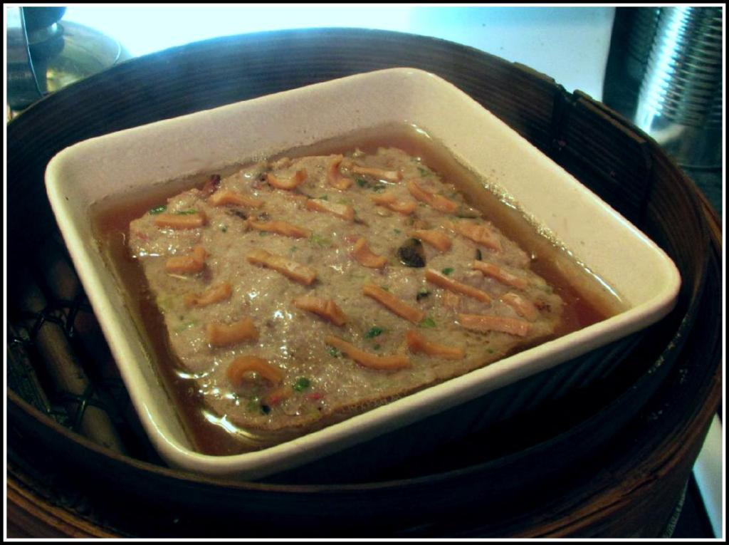 Steamed Pork Patty with Dried Squid