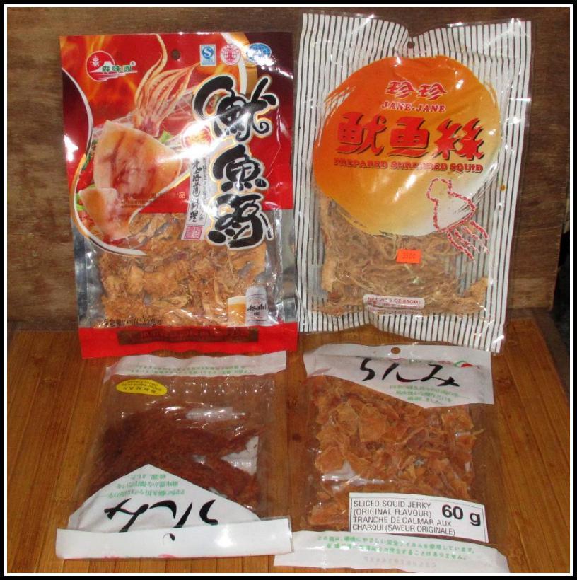 Packaged Squid Snacks