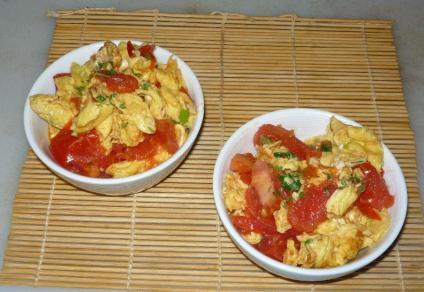 Tomatoes Stir-Fry Eggs - 番茄炒蛋