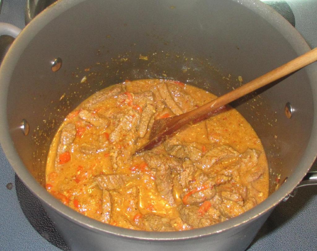Finishing the Chili Coriander Beef