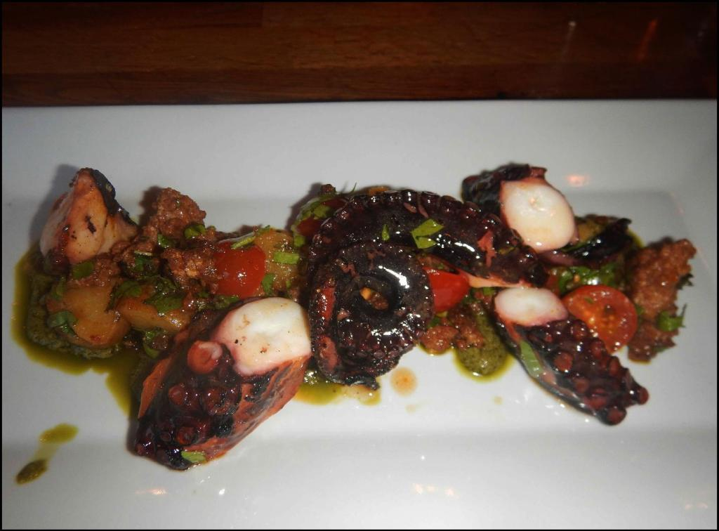 Octopus Grilled at Brothers Beer Bistro