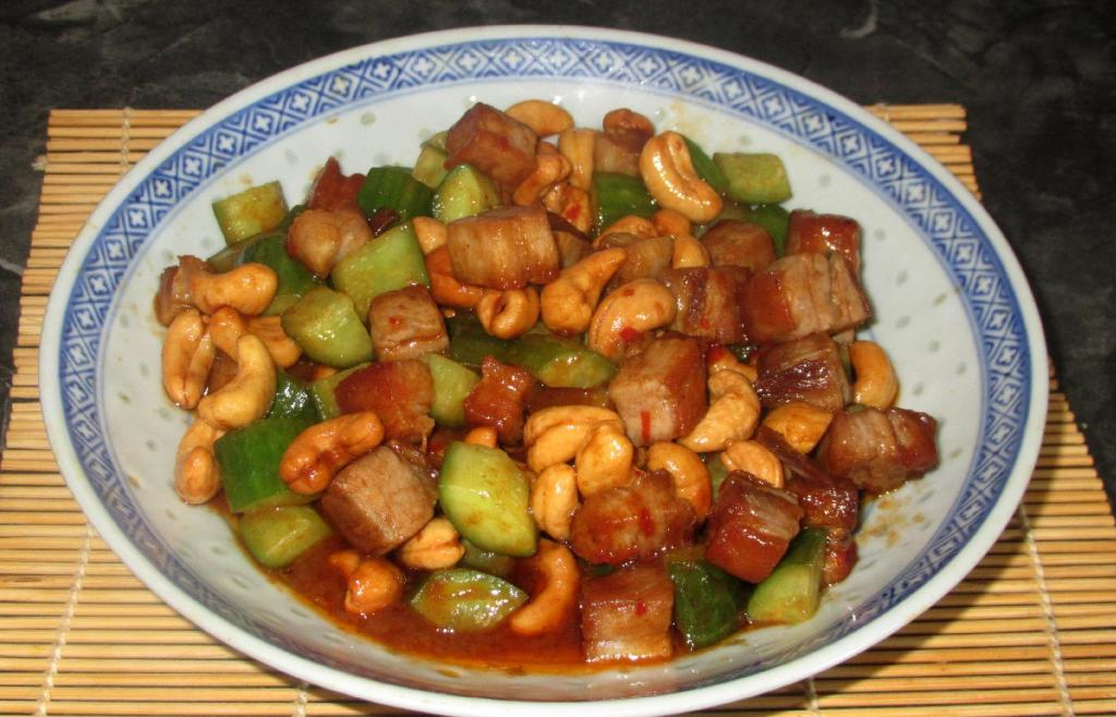 Spicy Cashew Cucumber Pork