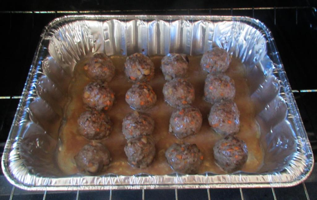 Pre-cooking the Meatballs