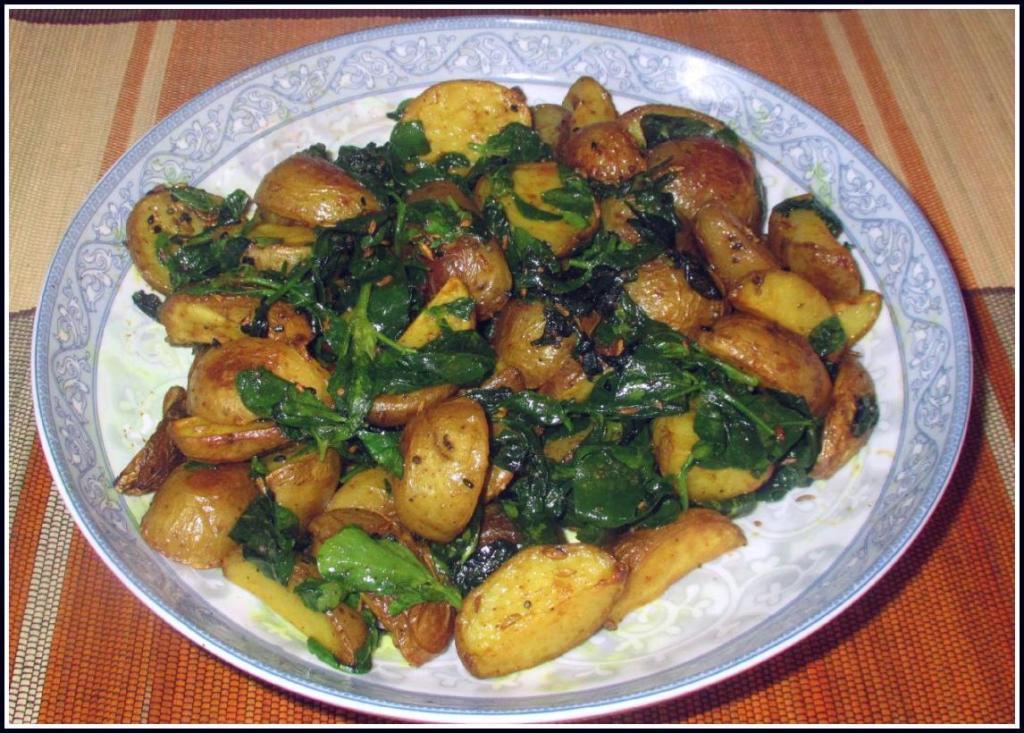 Bengali Fenugreek Potatoes (Bengali Aloo Methi)