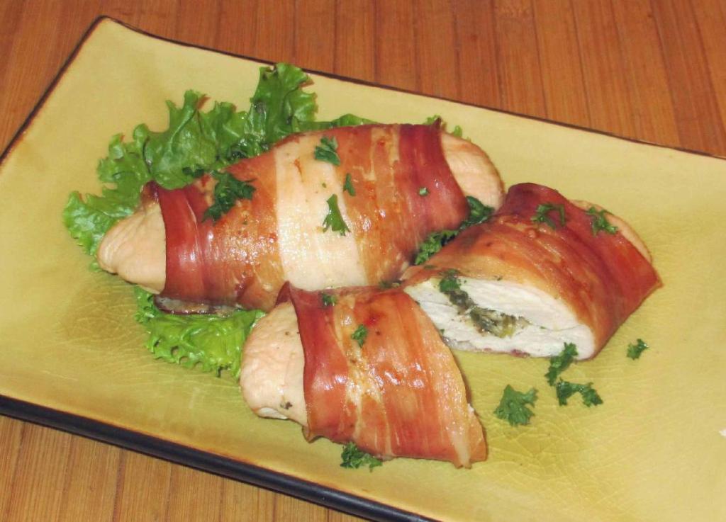 Asiago Stuffed Chicken Rolls