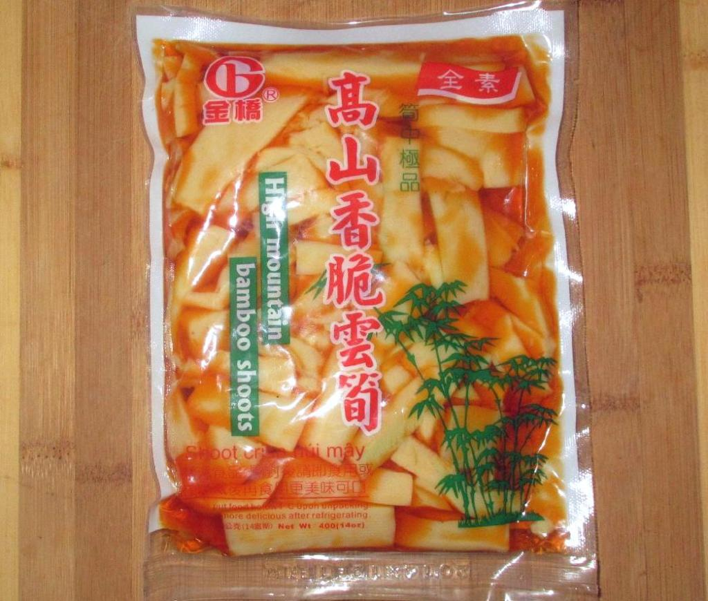 A Package of Chili Bamboo Pickle Strips