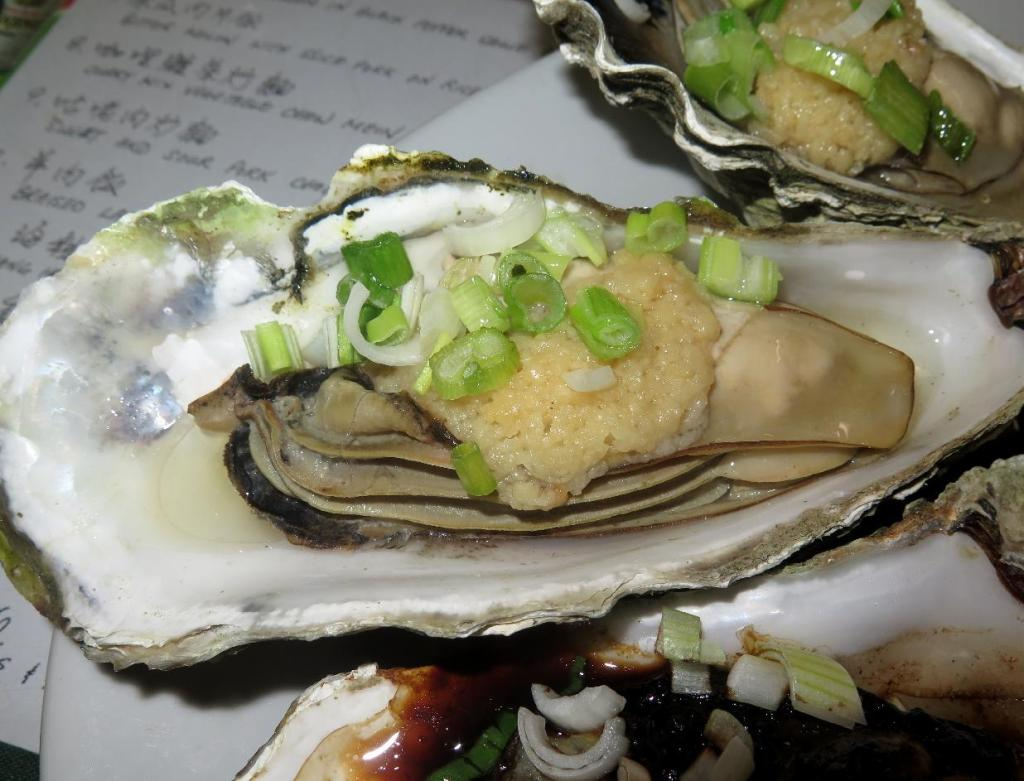 Oysters Steamed with Garlic
