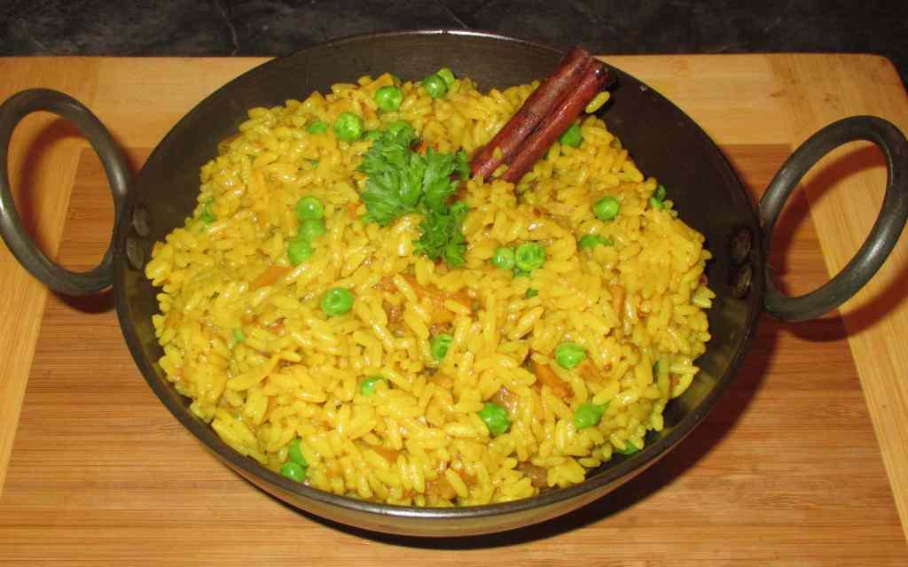 Rice with Turmeric Paste