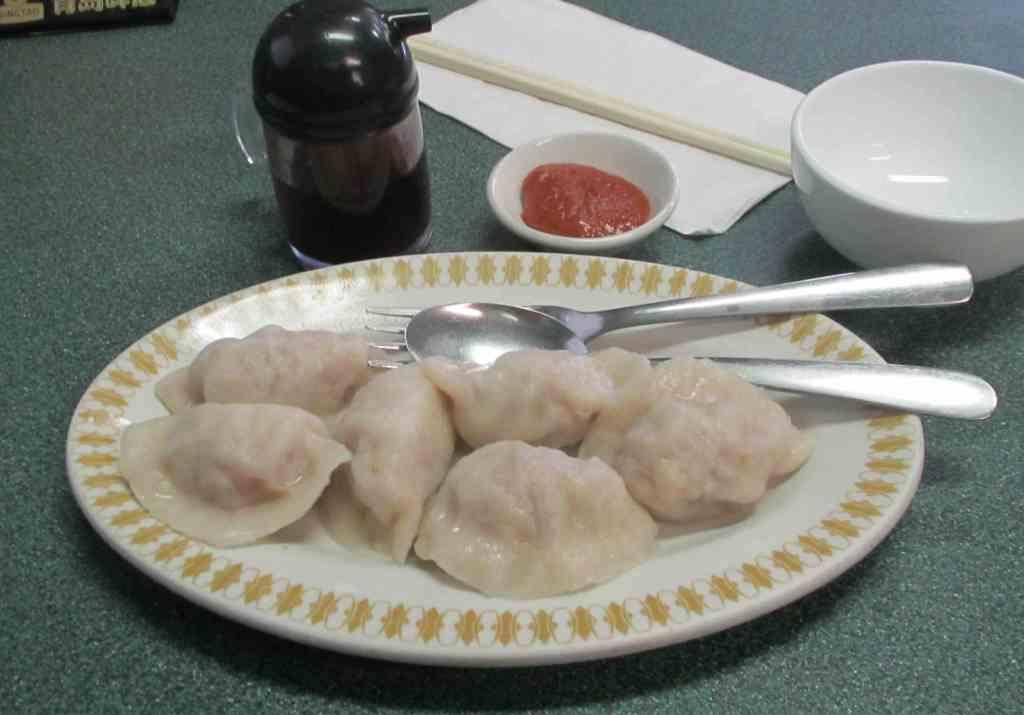 Boiled Pork Dumplings at the Yang Sheng Restaurant in Ottawa