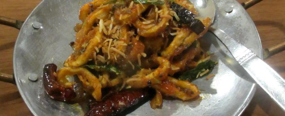 Calamari Manko Appetizer at the Curry Kebab House in Ottawa