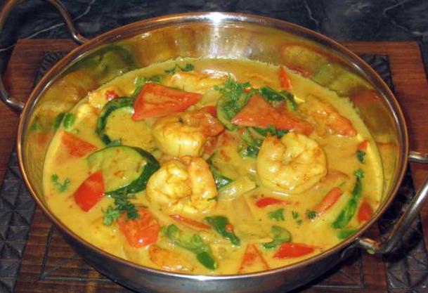 Malay Shrimp Curry made with Sambal Terasi