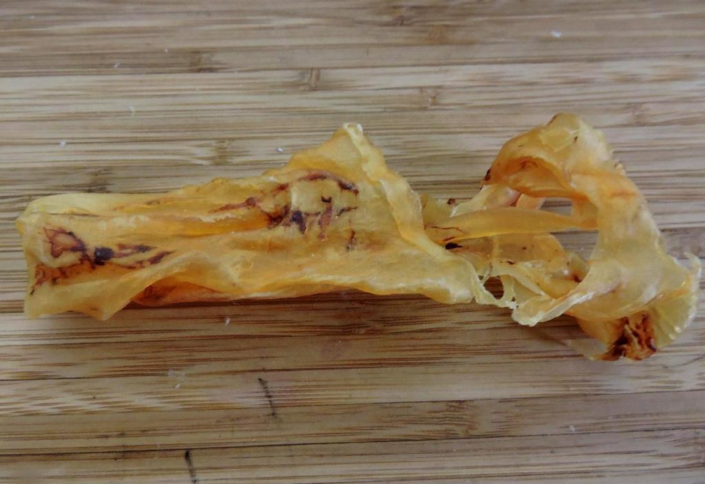 Dried Fish Maw in its natural state.