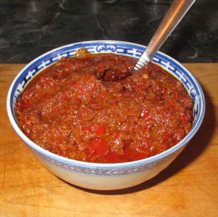 Freshly made Sambal Belacan