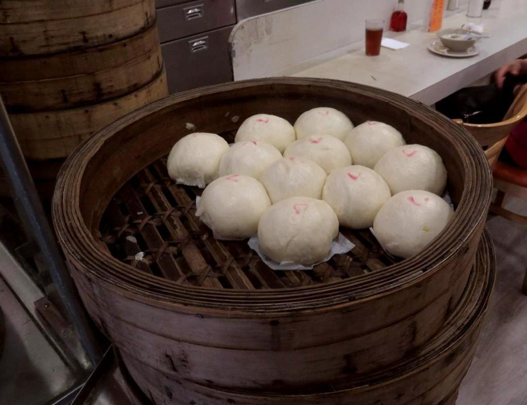 Giant Steamed Buns at the New Town Bakery and Restaurant in Vancouver