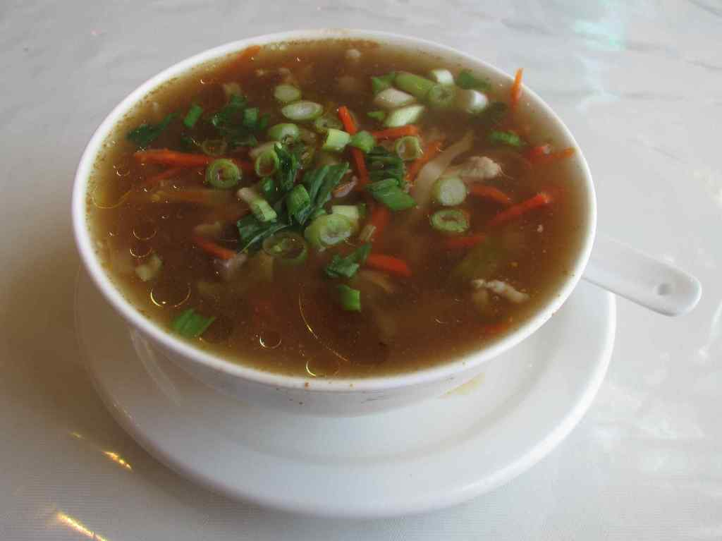 Sichuan Preserved Vegetable Soup at the Jing Cheng Restaurant in Halifax