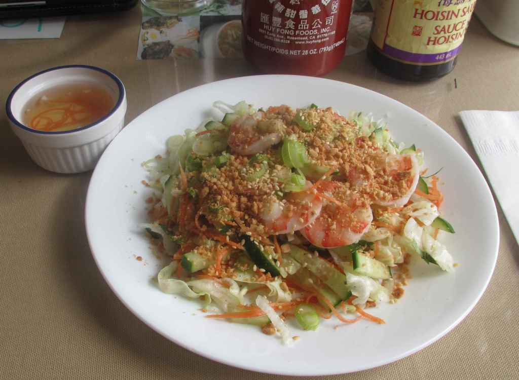 Vietnamese Cucumber Shrimp Salad at Wei's Noodle House in Ottawa