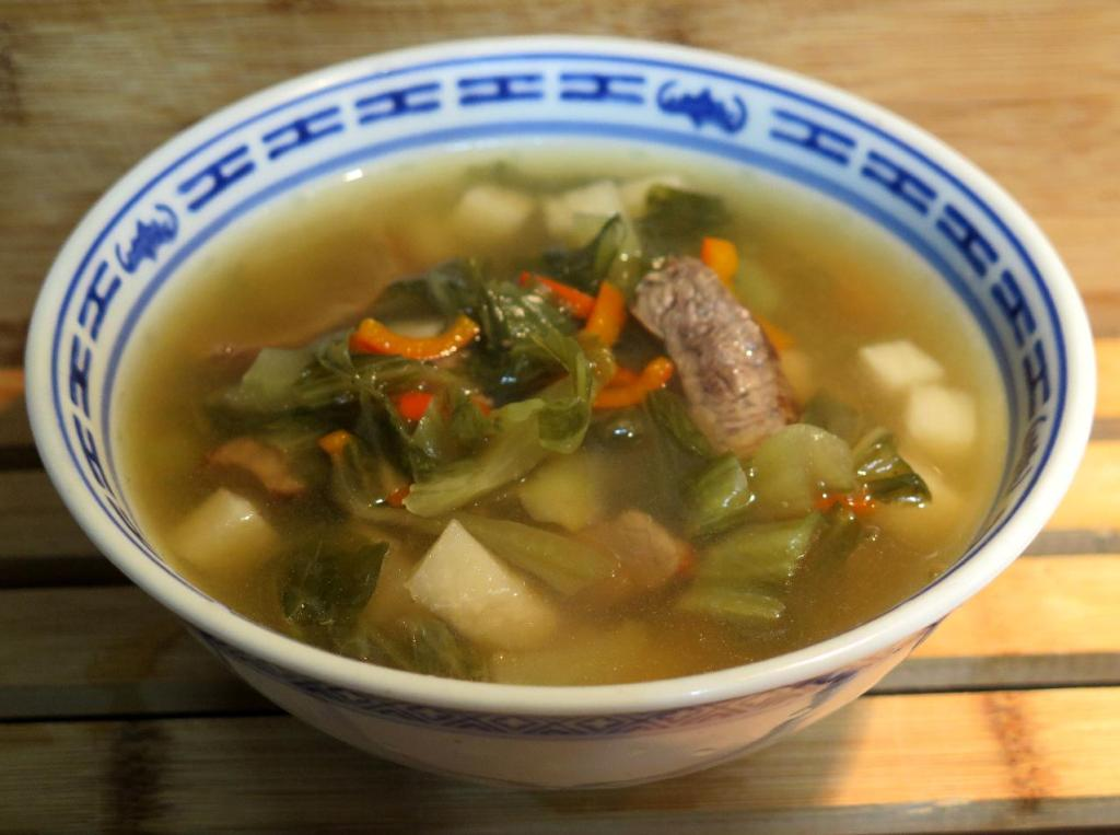 Beef Soup with Daikon and Mustard - 酸菜牛肉汤