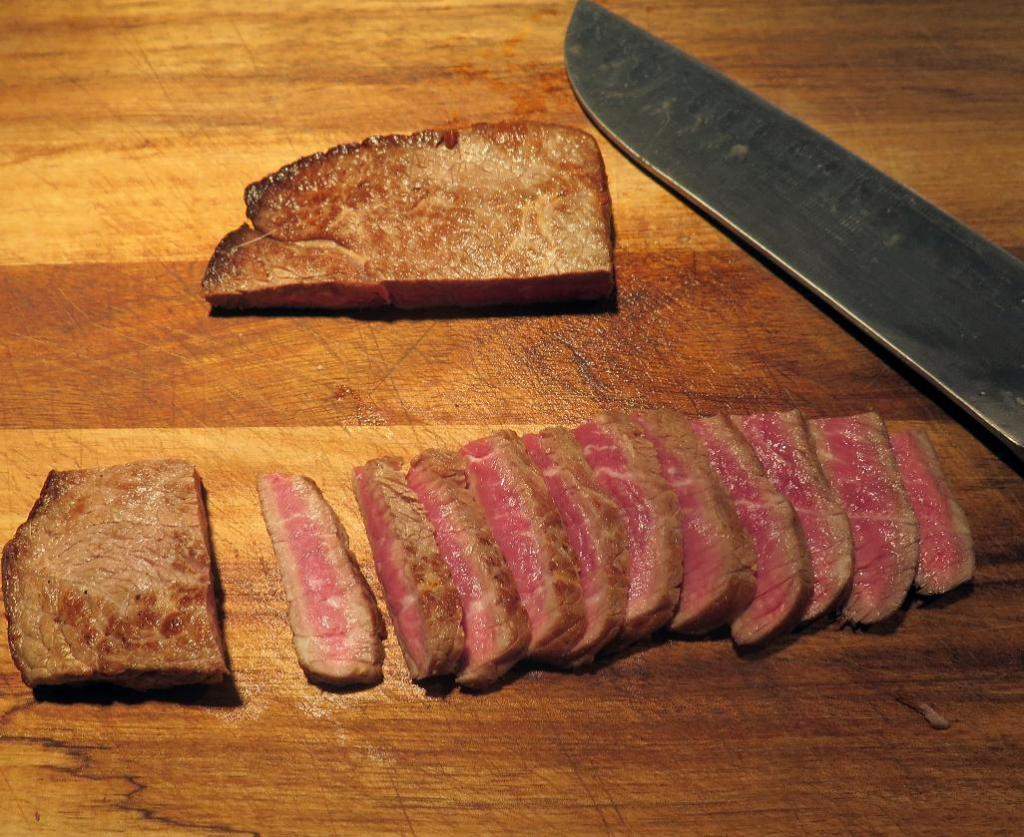 Slicing Chilled, Seared Beef