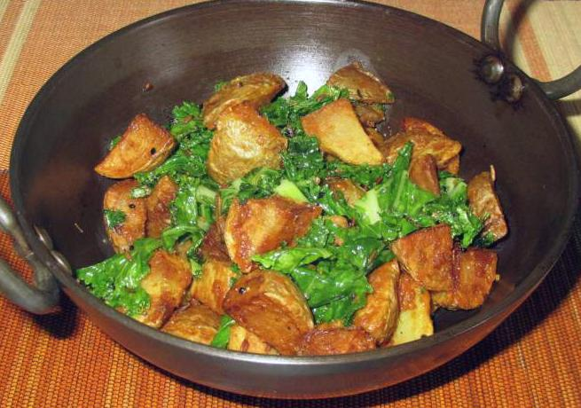 Five Spice Potatoes and Kale