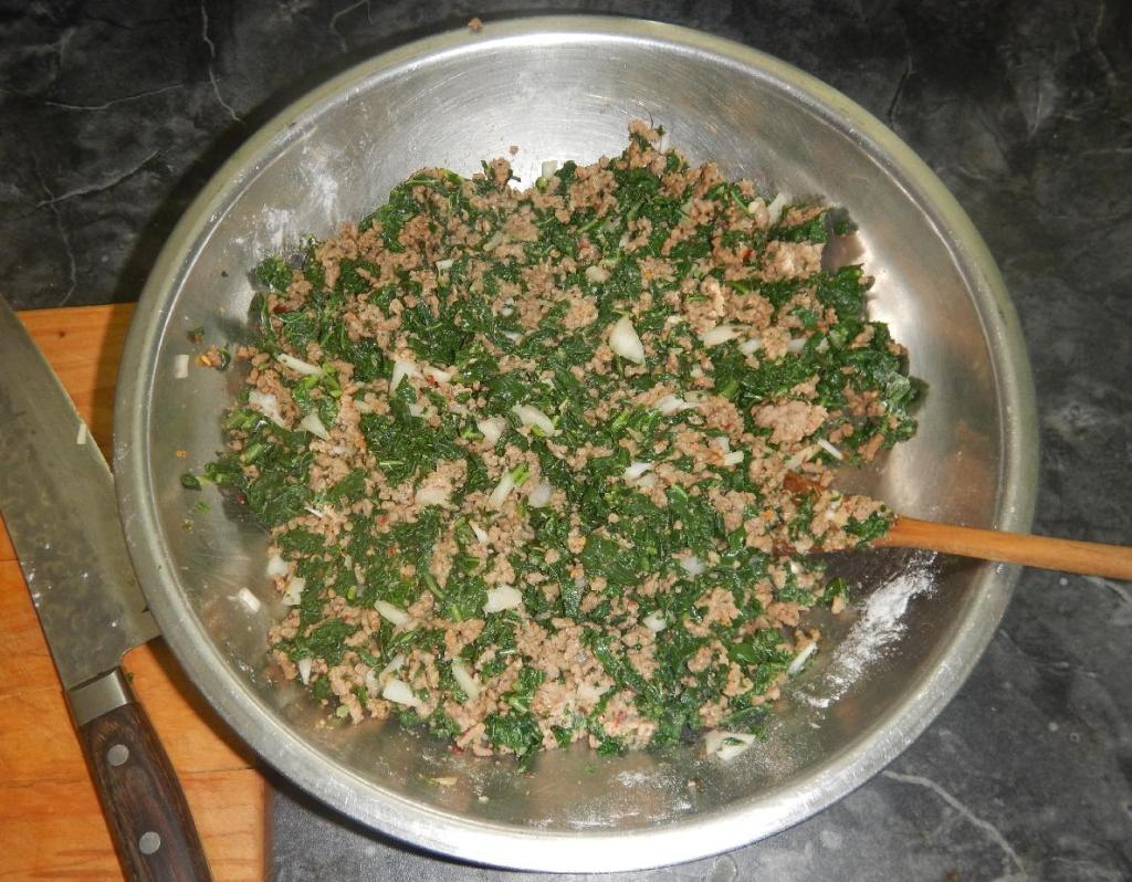 The filling for Keema Pie