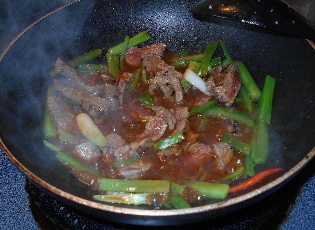 Finishing Pepper Steak